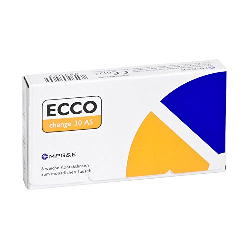 ECCO change 30 AS Monatslinsen weich, 6 Stück/BC 8.70 mm/DIA 14.40 mm / -2.75 Dioptrien