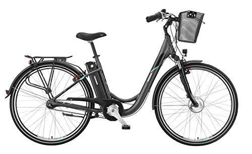 Telefunken E-Bike 28 Zoll Elektrofahrrad - Rücktritt & 7-Gang Shimano Nabenschaltung, Pedelec Citybike Alu mit Fahrradkorb, 250W und 10Ah, 36V Sitzrohrakku, RC755 Multitalent