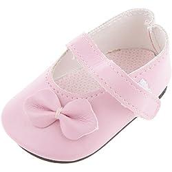 1Par Juguete Zapatos Planos Arco para Muñecas 18 Pulgadas Color Rosa