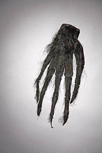 Horror Hand schwarz und haarig (Halloween Handschuhe)