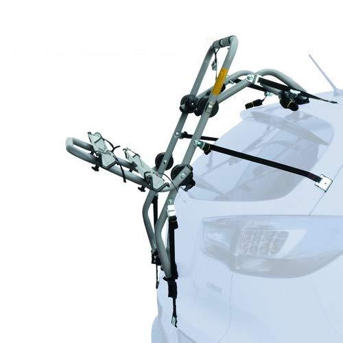 EMMEA PORTABICI Posteriore Auto 2 Bici Regolazione Cinghie Biciclette Compatibile con Peugeot 206 5P (98-05) Acciaio CARICO Max 30KG Padova St