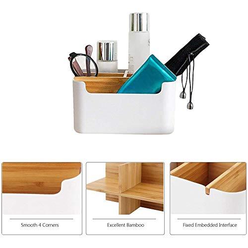 Goodtimera Holz Desktop Stift, Schreibtisch Organizer Bambus Tisch Organizer Set Büro Schreibtisch Organizer Bleistift, Handy, Büro & Home Fernbedienung Aufbewahrungsbox - Büro-schreibtisch, Home