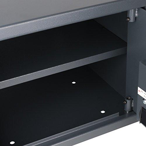 HMF Tresor Safe Möbeltresor Elektronikschloss 380 x 300 x 300 mm - 6