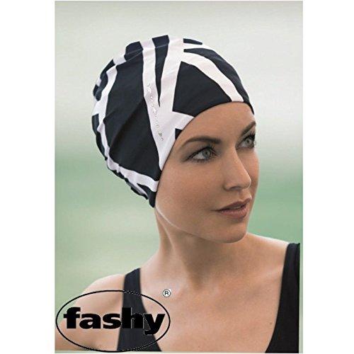 Fashy bianche e nero Zebra Stampa Nuoto Cappello