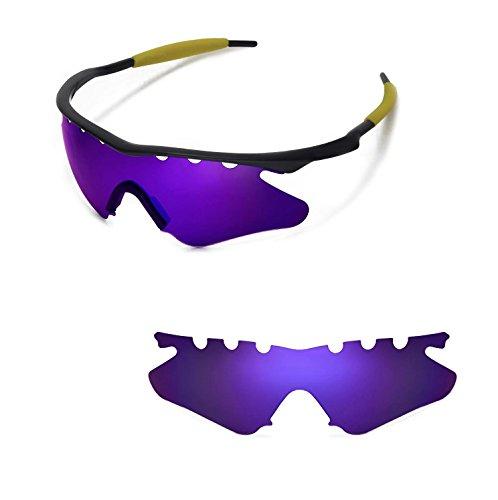 Walleva belüftet Ersatz Objektive oder Objektive mit Schwarz Nosepad für Oakley M Rahmen Heizung Sonnenbrille-21Optionen erhältlich, Purple - Polarized