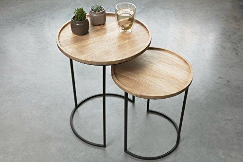 Tavolini Da Salotto Impilabili.Lifa Living Tavolini Da Salotto Impilabili Set Da 2