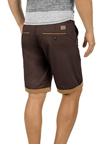 BLEND Neji Herren Shorts kurze Hose Basic-Shorts mit Gürtel aus 100% Baumwolle Coffee Brown (75103)