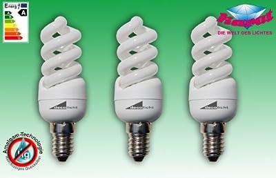 3er Pack Esl Minispirale E14 - 7watt 10000h von KARAT