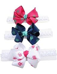 Lindo bebé niña diademas con pelo arco diadema diadema pelo Accessories(3 pcs a set)