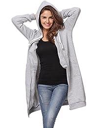 Abrigos De Mujer Largos, K-youth® Camiseta Larga De La Cremallera De Capa De Chaqueta Con Capucha Ocasional De Las Mujeres Outwear Las Tapas