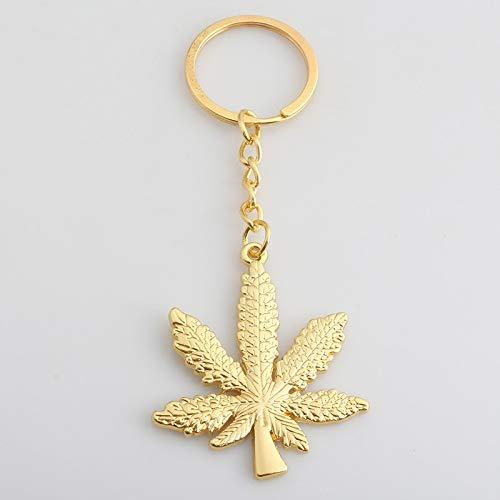 SWAOOS Pflanze Schlüsselanhänger Europa und Amerika Ma Maple Leaf Schlüsselanhänger Anhänger Pflanze Blatt Leder Gold Kette Schlüsselanhänger Damen Herren Zubehör Schlüsselanhänger