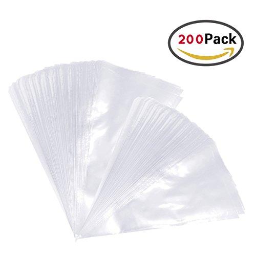 Ndier 200 piezas de grosor de repostería bolsas desechables para repostería decoración Bolsas de Pastelería manga pastelera para todos los tamaños Kit de puntas y acopladores