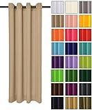Rollmayer modern Vorhang (Beige 3) Schal mit Ösen 140x250 cm lichtundurchlässig Gardine, Ösenvorhang Ösenschal für Kinderzimmer, Jugendzimmer, Schlafzimmer, Küche in 40 Farben!
