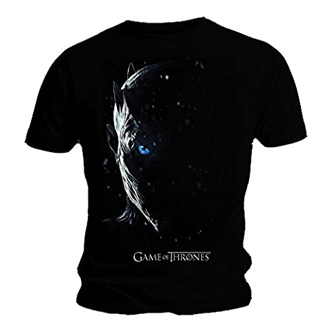 Official T Shirt Game of Thrones Season 7 White Walker Face POSTER L