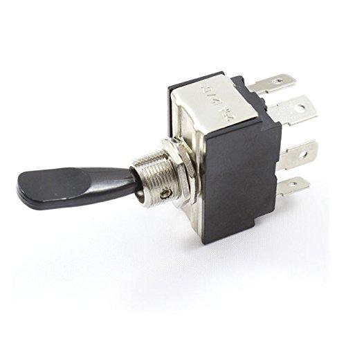 Interruptor de palanca (encendido/apagado/encendido) doble polo 25 Amp nominal DPST 12 V/24...