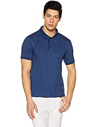 Amazon Brand - Symbol Men's All Over Printed Polo T-Shirt