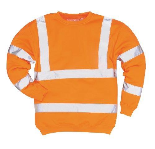 Portwest B303 Hallo-Vis Pullover Freizeitkleidung Arbeitskleidung Lange Ärmel - Orange, 2X Large Regular Fit - 2x ärmel Lange