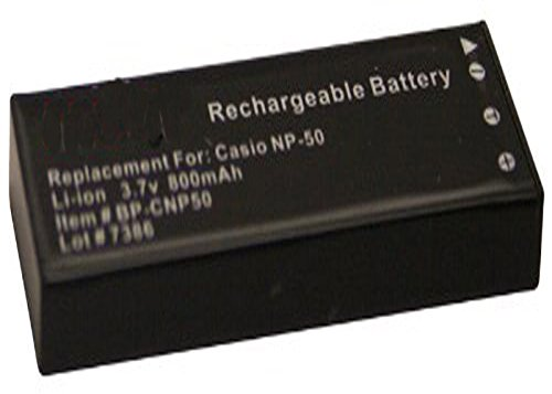 Amsahr Digital Replacement Camera and Camcorder Battery for Casio NP-50, Exilim EX-V8 Exilim Digital-batterie