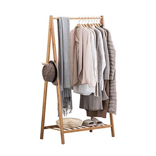 Porte-manteau cintre étage chambre simple cintre Nan bambou étage chambre à coucher salle de séjour bois pendaison rack,70cm