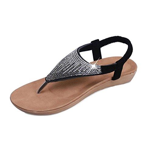 Sandales Pour Femmes , Internet Sandales de peep-toe en Paillettes - Microfibre Noir