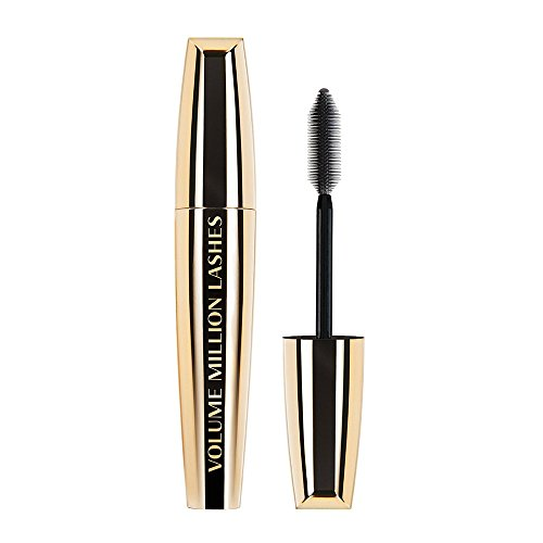 L'Oréal Paris Volume Million Lashes Mascara, schwarz - Wimperntusche für extra Definition und extra Volumen - 1er Pack (1 x 9 ml)