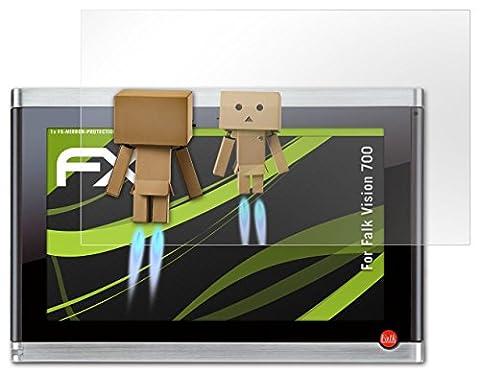 Falk Vision 700 Spiegelfolie - atFoliX FX-Mirror Displayschutz Folie mit Spiegeleffekt