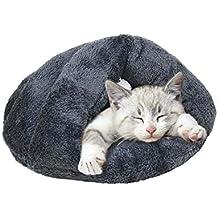 Mascotas Casa Mascotas Nest mascotas cama gato Saco de dormir Pet Nest Cave Forro Polar Suave Peluche cama Cave House lavable Cojín Pad Mat Invierno Mascota ...