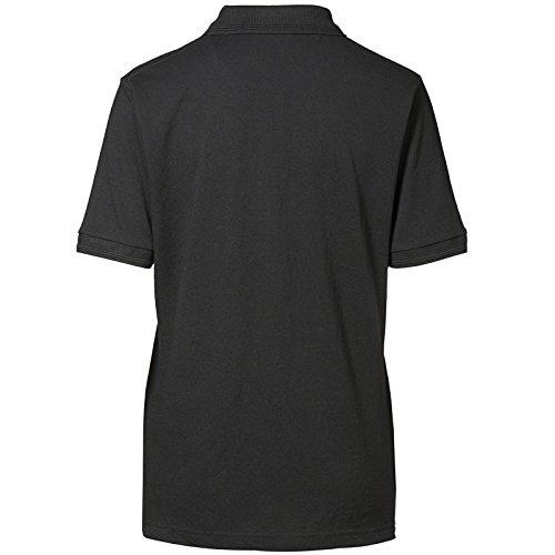 D.I.D ID Damen Pique Polo-Shirt, Kurzärmlig Schwarz