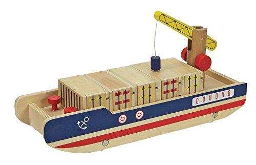 Topway 42305Holz Container Schiff Spielzeug
