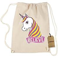 Expresión Tees Unicorn Believe Ugly Navidad algodón cordón mochila - 8053-D-NT, Natural