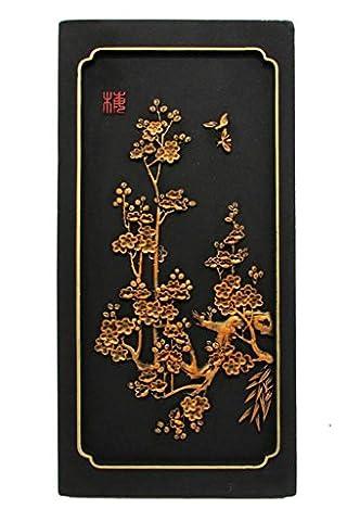 Soulagement stéréo Accueil tenture accessoires Sans cadre mur Ornements Chinois classique Artisanat de sculpture au carbone activé Protection environnementale cadeau , L