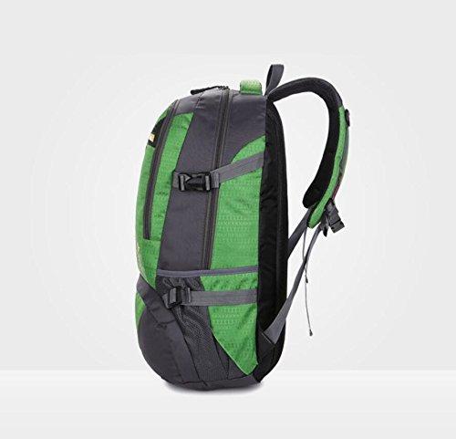 LF&F Backpack 40L GroßE KapazitäT Wasserdichtes Nylon Outdoor-Sport-UmhäNgetasche Reise-Bergsteigen Rucksack Aufbewahrungsbeutel Mehrzweck-Camping Freizeit Reitkoffer GepäCk Tasche A