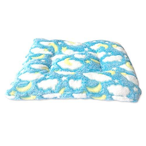 Wicemoon 1pcs Estera Suave Y Cálida para Mascotas de Nido de Hámster para Conejo Erizo Cama Azul 28 * 28cm