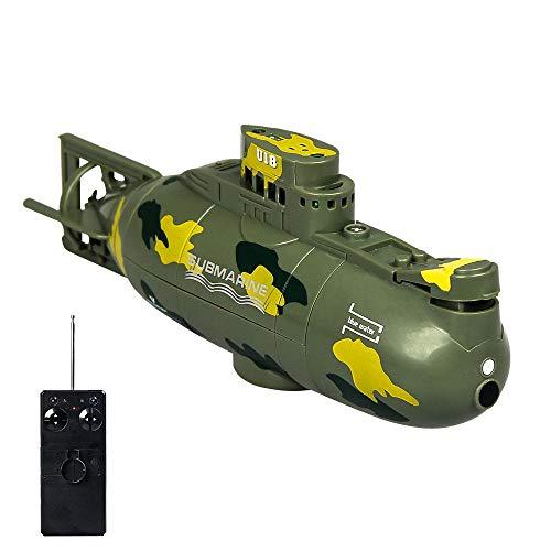 RC U-Boot, TEEPAO Wasserdichte Fernsteuerung Boot, Boot mit Wasserkreislauf Kühlsystem, Sicher und Langlebig, Ferngesteuertes U-Boot-Spielzeug für Kinder und Erwachsene - Grün