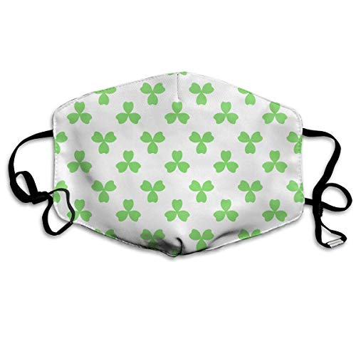 Erwachsene, Mask Face, Mouth Mask, Breathable Mask Anti Dust, Unisex St. Patrick's Day Lucky Shamrock Printed Cotton Mouth-Masks Face Mask Polyester Anti-dust Masks ()