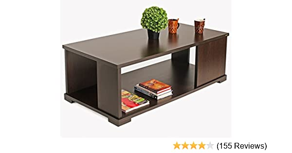 Bluewud Noel Ct No Rtw Coffee Table With Shelves Wenge Amazon In