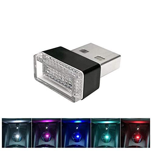 haodene USB Licht für Auto Innenbeleuchtung Atmosphäre Licht auf USB-Schnittsstelle adaptiert von Zigarettenanzünder Universal Heim Schreibtisch Laptop Plug and Play Rot 1 Stück -