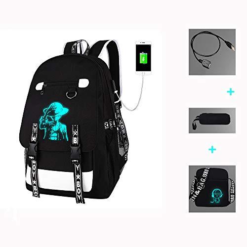 Leuchtende Schultasche, Laptop-Rucksack, USB-Ladeanschluss Rucksack Männer Frauen Unisex 16 Zoll College Daypack wasserdichte doppelte Schulter Rucksäcke,Coolboys