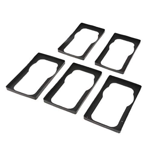 Magideal 5x alimentatore del case del computer protegge l'antivibrazione in silicone quadrato nero