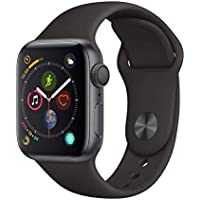 Apple Watch Series 4 (GPS, 40mm) Boîtier en Aluminium Gris Sidéral - Bracelet Sport Noir