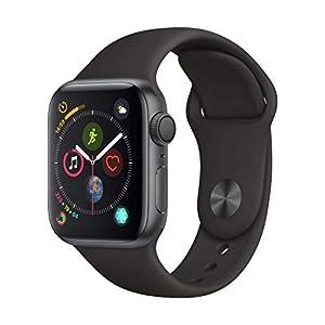 Apple Watch Series 4 (GPS, 40mm) Aluminiumgehäuse Space Grau – Sportarmband Schwarz