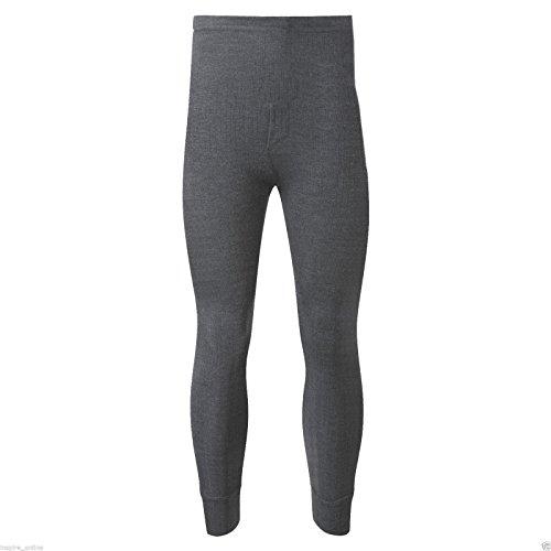 Herren-Unterwäsche Thermo Lange Unterhose Hosen Unterteile Winter Skifahren Arbeit In 3 Farben (Medium, Grau Werden) (Grau Unterhose Medium Lange)