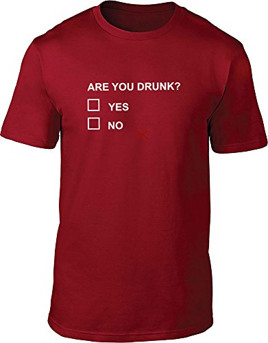 Are You Drunk maglietta da uomo Red L / 106,68-111,76 cm