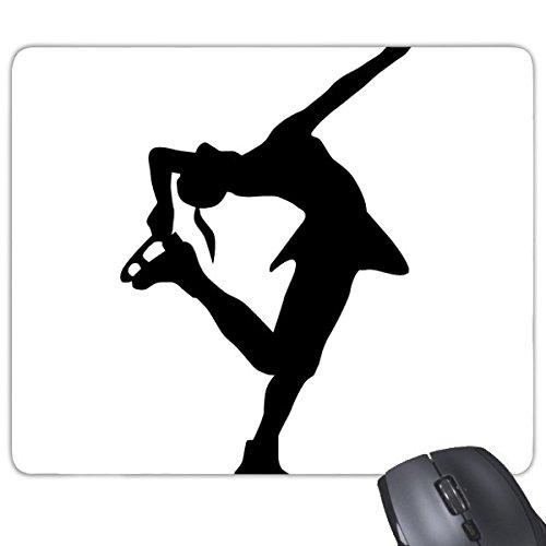 h Dance Eiskunstlauf Silhouette Muster Rechteck rutschfeste Gummi Mauspad Spiel Maus Pad (Maus-silhouette)