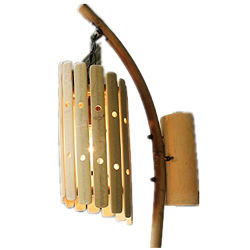 HHORD Bambus Taste Wandleuchte Antik Bambus Lampen und Laternen Creative Bauernhaus Music Inn Gang Balkon Restauranteingang Porzellankunst Lichtanwendung Platz 5-10 qm (25 * 49CM)