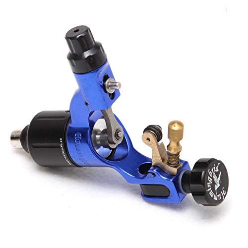 Rotary Tattoo Maschine Hohe Qualität Einstellbare Anschlag Direktantrieb RCA Kabel Professionelle Pistole Schwarz Farbe Tattoo,Blue -