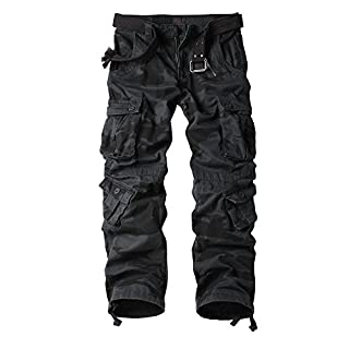 Men's Cargo Regular Trouser Army Combat Work Trouser Workwear Pants with 8 Pocket E Camouflage 40