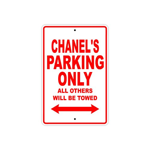 Targa in alluminio con nome di Chanel's Parking Only All Others Will Be Towed 12'x18' Sandali Adventure Seeker, punta chiusa - T - Bambini