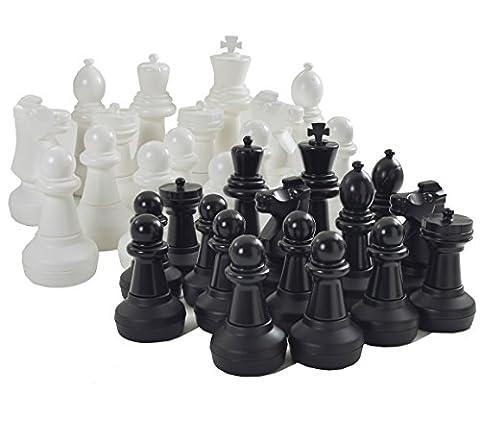 Garden Games Giant Chess Set Pieces - King Measures 64