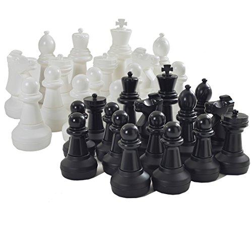 Garten Riesenschach -Kunststoff riesige Schachfiguren 60cm groß